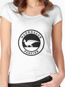 Hadrosaur Fancier (Black on Light) Women's Fitted Scoop T-Shirt