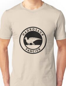 Hadrosaur Fancier (Black on Light) T-Shirt