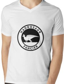 Hadrosaur Fancier (Black on Light) Mens V-Neck T-Shirt