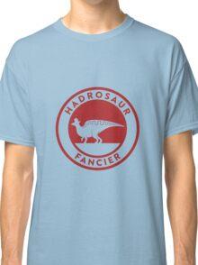 Hadrosaur Fancier (Red on White) Classic T-Shirt