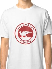 Hadrosaur Fancier (Red on White) Classic T-Shirt