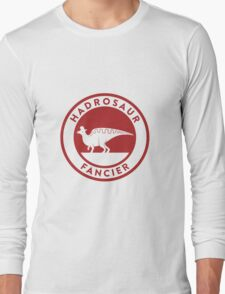 Hadrosaur Fancier (Red on White) Long Sleeve T-Shirt