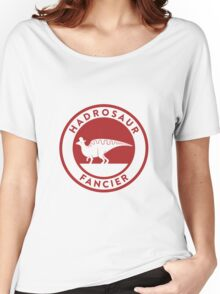 Hadrosaur Fancier (Red on White) Women's Relaxed Fit T-Shirt