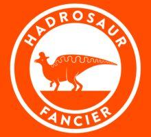 Hadrosaur Fancier (White on Dark) Kids Tee