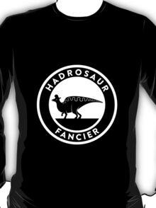 Hadrosaur Fancier (White on Dark) T-Shirt