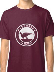 Hadrosaur Fancier (White on Dark) Classic T-Shirt