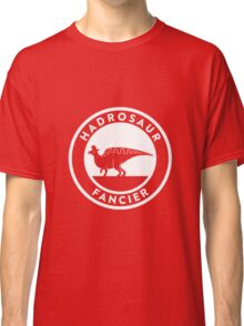 Hadrosaur Fancier (White on Dark) Classic T-Shirt