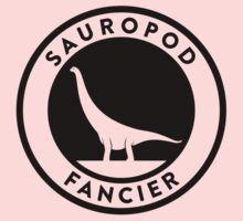 Sauropod Fancier (Black on Light) Kids Clothes