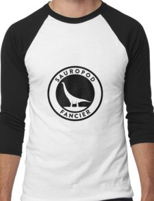Sauropod Fancier (Black on Light) Men's Baseball ¾ T-Shirt