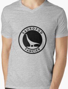 Sauropod Fancier (Black on Light) Mens V-Neck T-Shirt