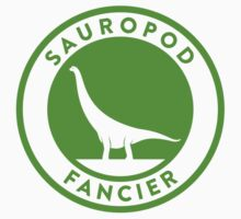 Sauropod Fancier (Green on White) Kids Tee