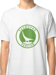 Sauropod Fancier (Green on White) Classic T-Shirt