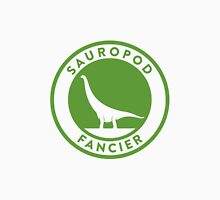 Sauropod Fancier (Green on White) Unisex T-Shirt