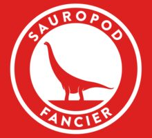 Sauropod Fancier (White on Dark) Kids Clothes