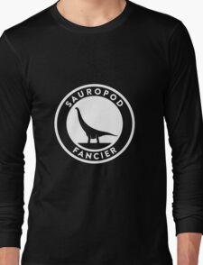 Sauropod Fancier (White on Dark) Long Sleeve T-Shirt