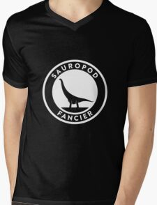 Sauropod Fancier (White on Dark) Mens V-Neck T-Shirt