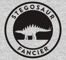 Stegosaur Fancier (Black on Light) Kids Clothes