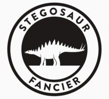 Stegosaur Fancier (Black on Light) One Piece - Short Sleeve