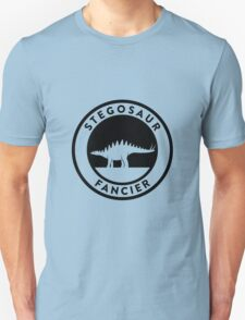 Stegosaur Fancier (Black on Light) T-Shirt
