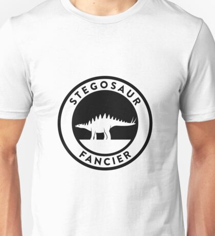 Stegosaur Fancier (Black on Light) Unisex T-Shirt
