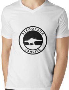 Stegosaur Fancier (Black on Light) Mens V-Neck T-Shirt
