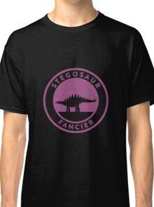 Stegosaur Fancier (Violet on White) Classic T-Shirt
