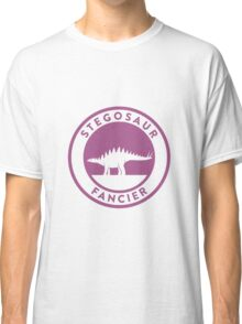 Stegosaur Fancier (Violet on White) Classic T-Shirt