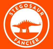 Stegosaur Fancier (White on Dark) Kids Tee