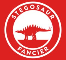 Stegosaur Fancier (White on Dark) Kids Clothes