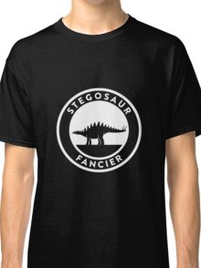 Stegosaur Fancier (White on Dark) Classic T-Shirt