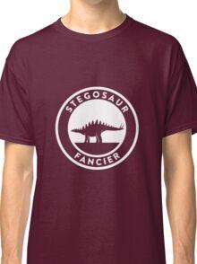 Stegosaur Fancier (White on Dark) Classic T-Shirt