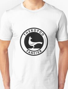 Theropod Fancier (Black on Light) T-Shirt