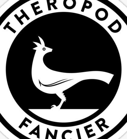 Theropod Fancier (Black on Light) Sticker