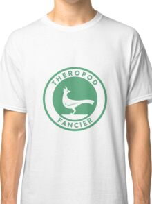 Theropod Fancier (Teal on White) Classic T-Shirt