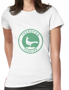 Theropod Fancier (Teal on White) Womens Fitted T-Shirt