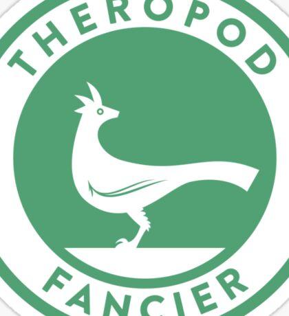 Theropod Fancier (Teal on White) Sticker