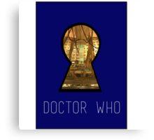 TARDIS Keyhole Canvas Print