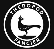 Theropod Fancier (White on Dark) by David Orr