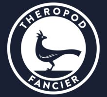 Theropod Fancier (White on Dark) Kids Clothes