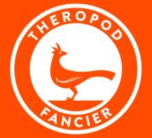 Theropod Fancier (White on Dark) Kids Tee