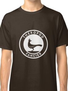 Theropod Fancier (White on Dark) Classic T-Shirt