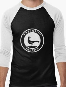 Theropod Fancier (White on Dark) Men's Baseball ¾ T-Shirt