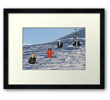 In order to prepare for the Olympics, Bryon must practice skiing the moguls.  Framed Print