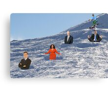 In order to prepare for the Olympics, Bryon must practice skiing the moguls.  Canvas Print