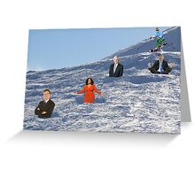 In order to prepare for the Olympics, Bryon must practice skiing the moguls.  Greeting Card