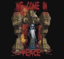 In Peace We Conquer .. tee shirt by LoneAngel