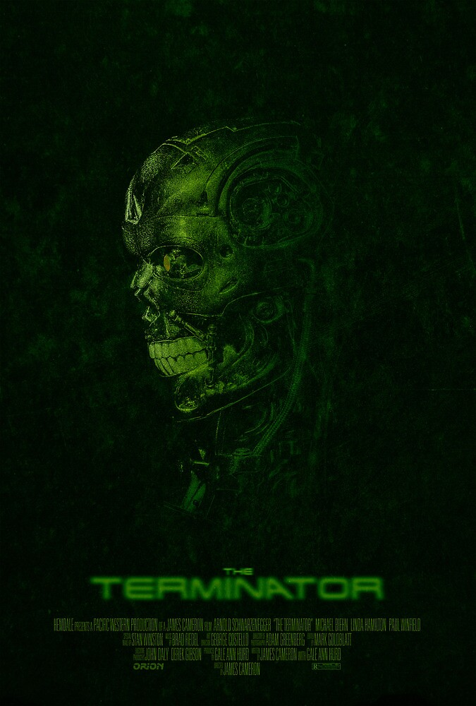 "Movie Poster - ""TERMINATOR"" (v2) by Mark Hyland"