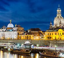 Dresden in Moonlight by Michael Abid