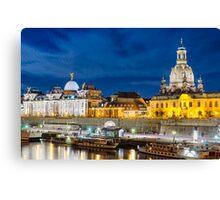 Dresden in Moonlight Canvas Print