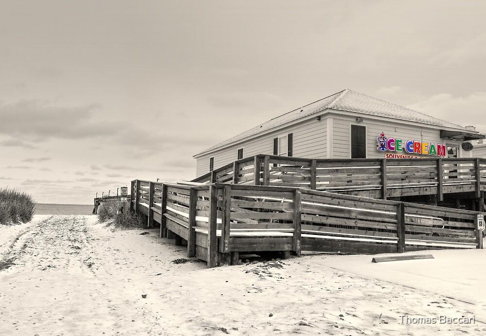 ICE CREAM BEACH SCENE (selective color)  by TJ Baccari Photography